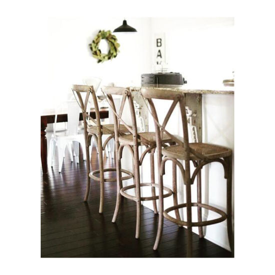 Classic-High-Rattan-Commercial-Cross-Back-Bar-Chairs-Stool